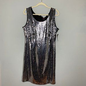 GORGEOUS Silver Sequin Mirror Ball Party Dress
